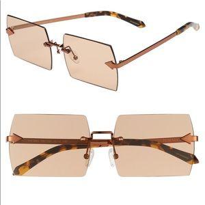 Karen Walker Bird Square Sunglasses Brown